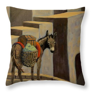 Topper Throw Pillow by Gretchen Allen