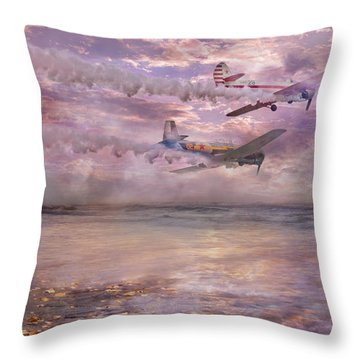 Topsail Flyers Throw Pillow by Betsy Knapp