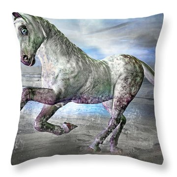 Topsail Gallop Throw Pillow