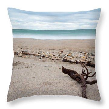 Topsail Island Driftwood Throw Pillow
