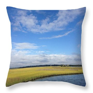 Topsail Island Icw Throw Pillow