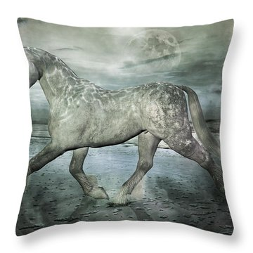 Topsail Island The Gray  Throw Pillow