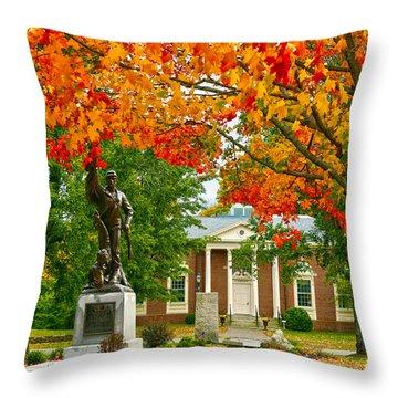 Topsfield Throw Pillow by Mitch Cat