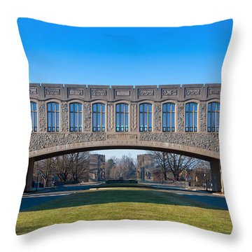 Torgersen Hall At Virginia Tech Throw Pillow