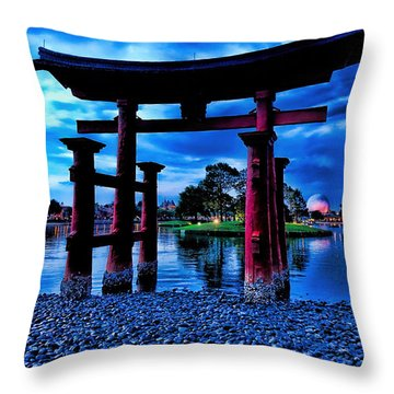 Torii Gate 2 Throw Pillow