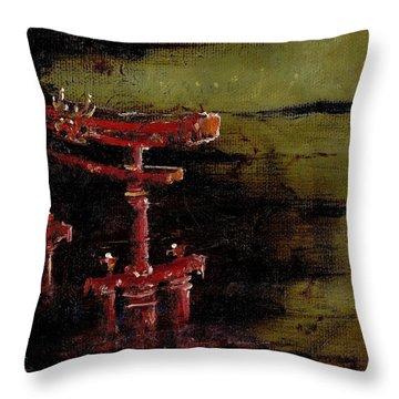 Torii Throw Pillow by Julio Lopez
