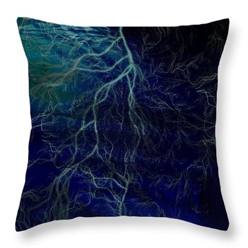 Tormented Sea Throw Pillow