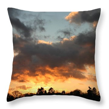 Tormented Sky Throw Pillow
