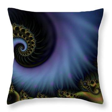 Throw Pillow featuring the digital art Tornado Dancers by Elizabeth McTaggart
