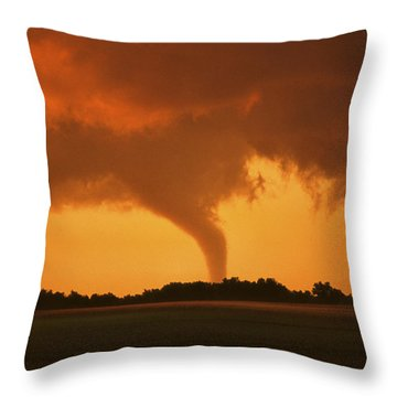 Tornado Sunset 11 X 14 Crop Throw Pillow