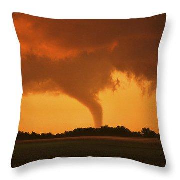 Tornado Sunset 11 X 14 Crop Throw Pillow