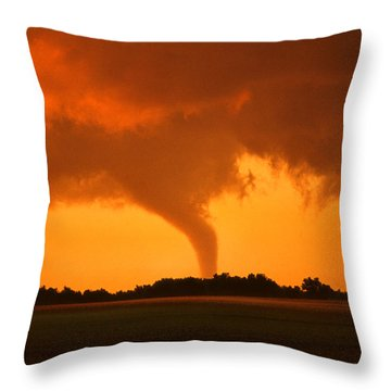 Tornado Sunset Throw Pillow by Jason Politte