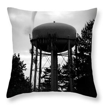 Throw Pillow featuring the photograph Tornado Tower by Aaron Berg