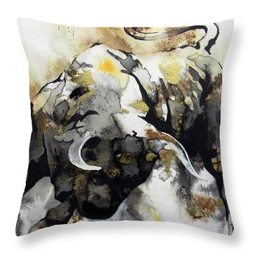 Toro 2 Throw Pillow by J- J- Espinoza