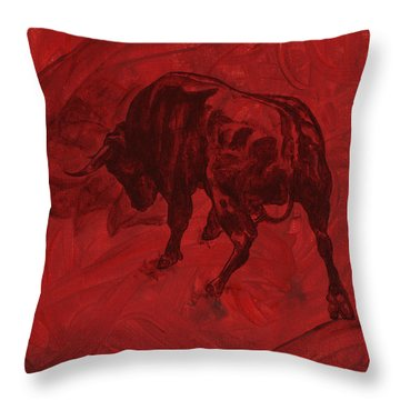 Toro Painting Throw Pillow
