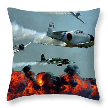 Toro Toro Toro Throw Pillow by Bob Christopher