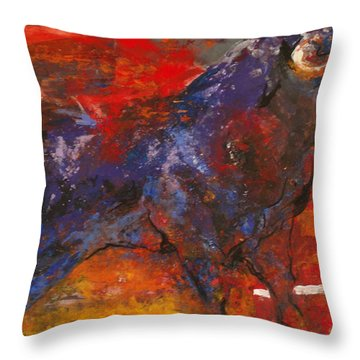 Toro Valiente      Courageous Bull Throw Pillow by Koro Arandia