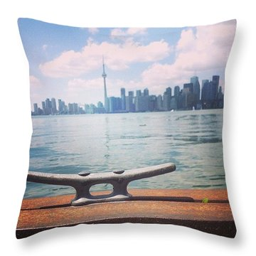 Anchor Here Throw Pillow