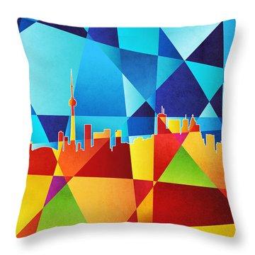 Abstract Skyline Throw Pillows