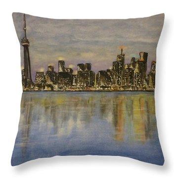 Toronto City Canada Throw Pillow