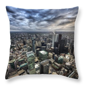 Toronto Daybreak Throw Pillow