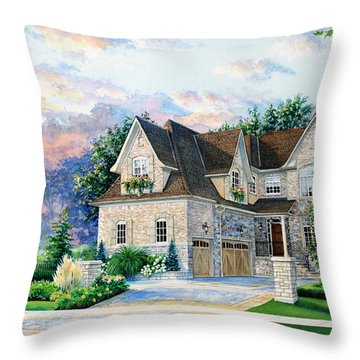 Toronto Family Home Throw Pillow by Hanne Lore Koehler