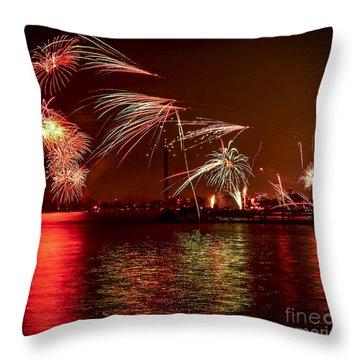 Toronto Fireworks Throw Pillow by Elena Elisseeva