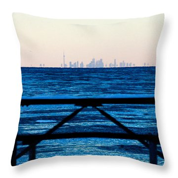 Toronto From Fort Niagara Throw Pillow By Michael Allen