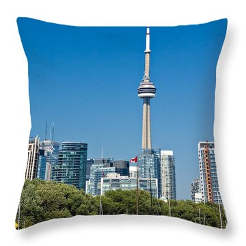 Toronto Harbour Throw Pillow by Steve Harrington