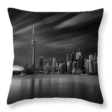 Toronto Skyline - 8 Minutes In Toronto Throw Pillow