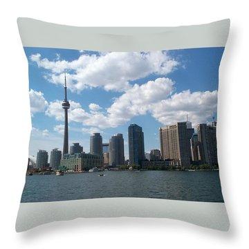 Throw Pillow featuring the photograph Toronto Skyline by Barbara McDevitt
