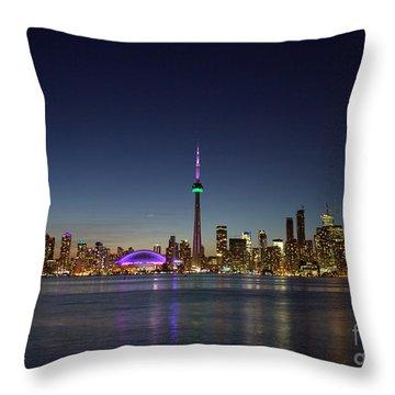 Toronto Skyline Colours Throw Pillow