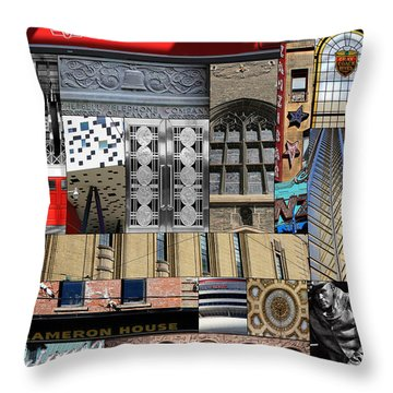 Toronto Textures 1 Throw Pillow by Andrew Fare