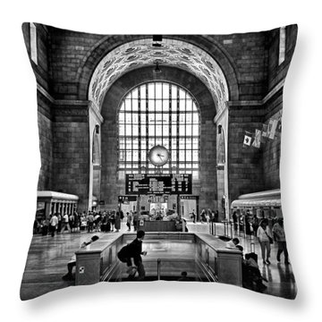 Toronto Union Station 323pm Throw Pillow by Brian Carson