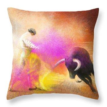 Toroscape 55 Throw Pillow by Miki De Goodaboom