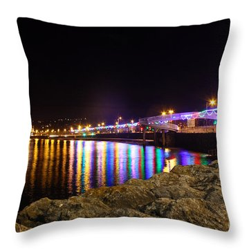 Torquay Lights Throw Pillow