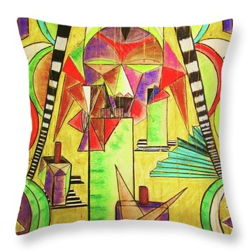 Torrential Rain Throw Pillow