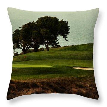 Torrey Pines Golfcourse Throw Pillow