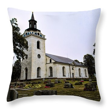 Torstuna Kyrka Church Throw Pillow