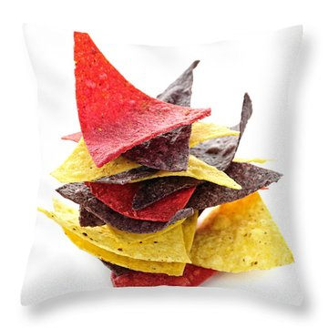 Tortilla Chips Throw Pillow by Elena Elisseeva