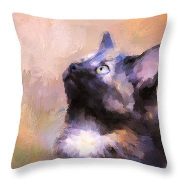 Tortoiseshell Kitten #3 Throw Pillow