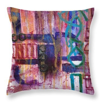 Tortured Links Throw Pillow by Jason Williamson