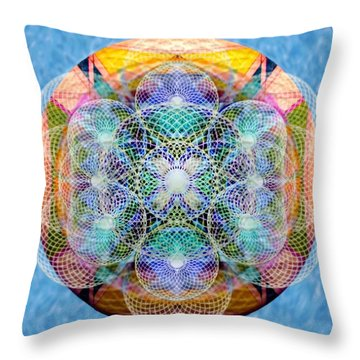 Torusphere Synthesis Cell Firing Soulin IIi Throw Pillow
