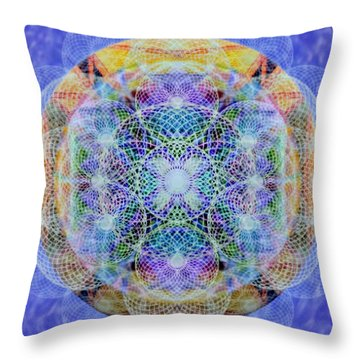 Torusphere Synthesis Interdimensioning Soulin Iv Throw Pillow