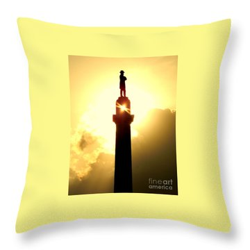General Robert E. Lee And The Summer Solstice In New Orleans Throw Pillow by Michael Hoard