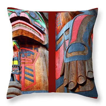 Totem 2 Throw Pillow by Theresa Tahara