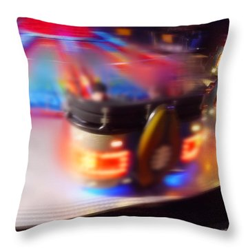 Touch Down Throw Pillow by Charles Stuart