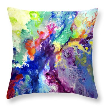 Touch Me Here Throw Pillow