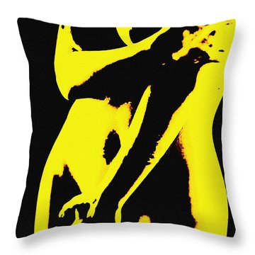 Touch Me Not Throw Pillow by Piety Dsilva