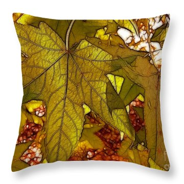 Throw Pillow featuring the photograph Touch Of Fall by Kathy Baccari